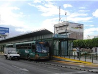 An Optibus at the Centro Historico station