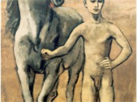 Pablo Picasso, Boy Leading a Horse 1906, 220.3  130.6 cm., 86.75  51.5 inches, Museum of Modern Ar