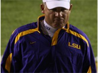 Les Miles during the 2007 Auburn vs. LSU game.