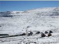 The Afriski resort in the Maluti Mountains of Lesotho.