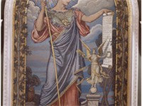 Elihu Vedder's Minerva of Peace mosaic