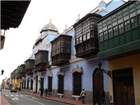 Balconies were a major feature of Lima's architecture during the colonial period.