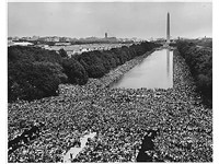 The March on Washington in 1963 brought 250,000 people to the National Mall and is famous for Martin