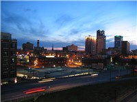 Partial view of Little Rock Skyline in 2005.
