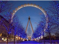 London Eye at twilight.