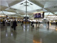 The arrivals hall in the terminal building which was expanded back in 2008.