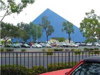 The Walter Pyramid on the Long Beach State campus