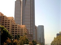 The Fox Plaza in Century City, headquarters for 20th Century Fox, is a major financial district for