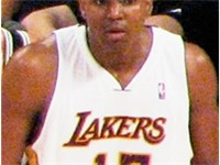 The Lakers' first round draft pick in 2005, Andrew Bynum.