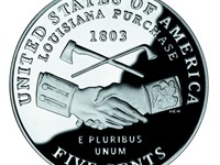 A 2004 nickel celebrating the bicentennial of the Louisiana Purchase