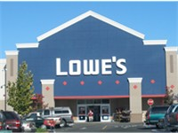 A typical Lowe's storefront in Santa Clara, California.