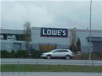 A Lowe's in Smokey Point, Washington as seen from a nearby freeway.