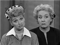 Ball as Lucy, Vivian Vance as Ethel on the &quot;Job Switching&quot; episode of I Love Lucy