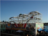 The Wild Mouse roller coaster