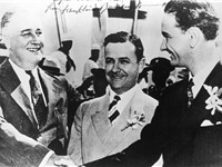 President Roosevelt, Governor James Allred of Texas, and Johnson. In later campaigns, Johnson edited