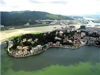 Landscape of Penha Hill in Macau.