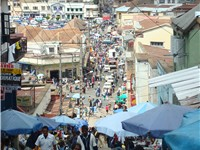 Antananarivo is the political and economic capital of Madagascar