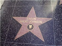 Magic Johnson's star on the Hollywood Walk of Fame