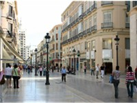 Calle Larios is the main street in the city.