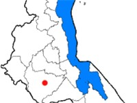 The districts of Malawi, with Lilongwe (the capital) marked in red