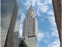 The Chrysler Building. The tallest building in the city in 1930--1931
