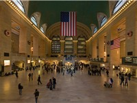 Grand Central Terminal, a terminal rail station, and a major city landmark.