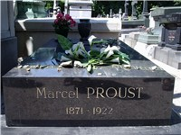 Grave of Marcel Proust at P re Lachaise Cemetery.
