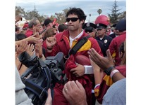 "Sanchez on USC's traditional pregame ""Trojan Walk"""