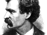 1874 engraving of Twain