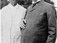 A late life friendship for each, Mark Twain and Henry Huttleston Rogers in 1908