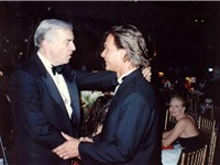 Martin Landau (left) with Patrick Swayze