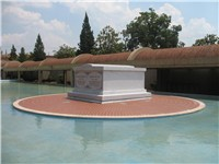 Martin Luther King's & Coretta Scott King's tomb, located on the grounds of the Martin Luther King,
