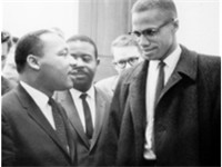Martin Luther King, Jr. and Malcolm X, March 26, 1964.