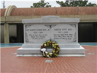 Martin Luther King, Jr. and Corretta Scott King Tomb in the Sweet Auburn district, preserved as the