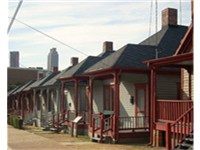 Shotgun houses on Auburn Ave. directly across from MLK's boyhood home