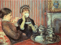 Tea by Mary Cassatt, 1880, oil on canvas, 25 1/2 x 36 1/4 in., Museum of Fine Arts, Boston