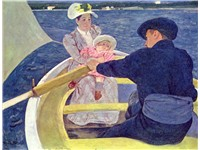 The Boating Party by Mary Cassatt, 1893--94, oil on canvas, 35 1/2 x 46 in., National Gallery of Art