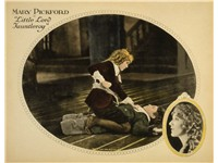 A lobby card of the 1921 Mary Pickford film, Little Lord Fauntleroy in which she played both the tit