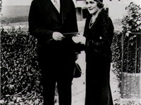 Pickford gives President Herbert Hoover a ticket for a film industry benefit for the unemployed, Nov