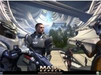 Garrus, left; Commander Shepard, center