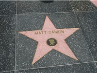 Matt Damon's star on the Hollywood Walk of Fame