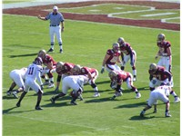Ryan and the Boston College Eagles line up on offense on the 2007 ACC Championship game