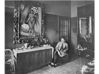 Max Pechstein in his house in Berlin-Zehlendorf, 1915