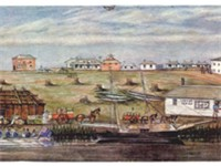 Melbourne Landing, 1840; watercolour by W. Liardet (1840)