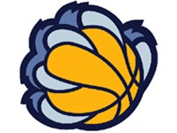 "The Grizzlies' alternate ""claw"" logo"