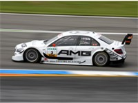 The DTM C-Class (W204) of 2009 on the Hockenheimring.