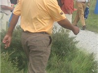 Michael Campbell walks to the 12th tee at the 2007 KLM Open.