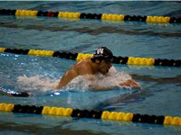 Phelps swims the 400 IM at the 2008 Missouri GP
