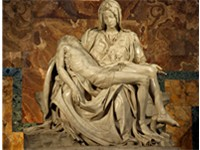 Michelangelo's Pietà, a depiction of the body of Jesus on the lap of his mother Mary after the Cruci