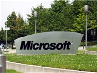 The entrance sign of Microsoft at a German Campus.